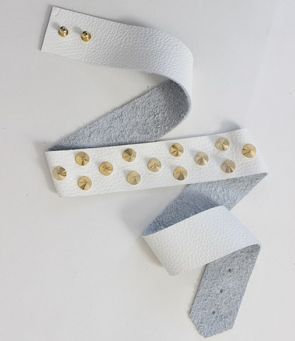 Tutorial: No-sew studded leather belt