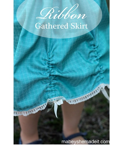 Tutorial: Little girl's ribbon pickup skirt