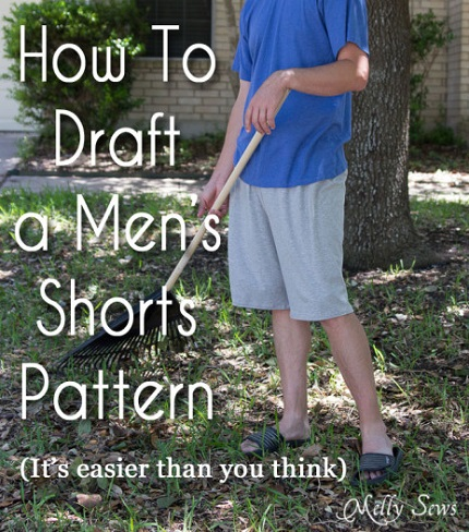 Tutorial: Draft a men's loose fitting shorts pattern