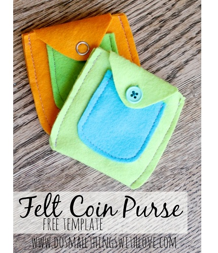 Tutorial: Felt coin purse