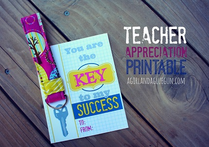 Tutorial: Teacher appreciation key fob, plus a free printable