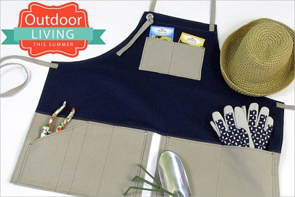 Tutorial: Split skirt gardening apron