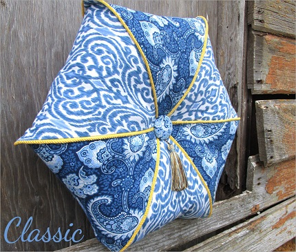 Tutorial: Corded and tufted hexagon pillow