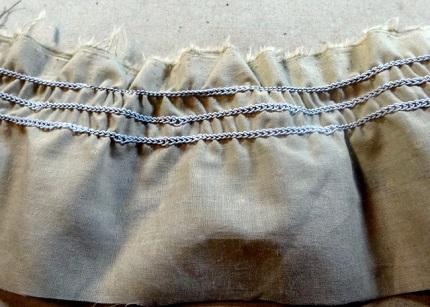 Tutorial: Elastic thread shirring using a serger chain stitch