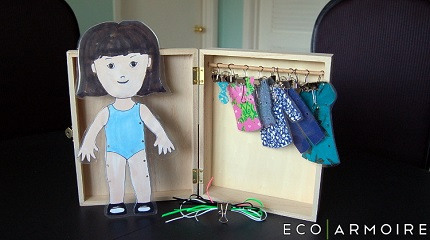 Tutorial: Sewing paper dolls with a wardrobe of clothes