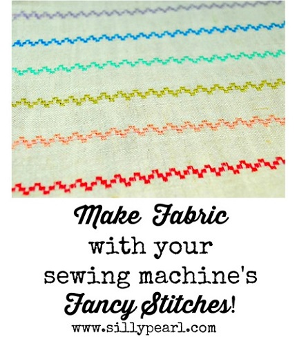 Tutorial: Make custom fabric designs using your sewing machine's decorative stitches