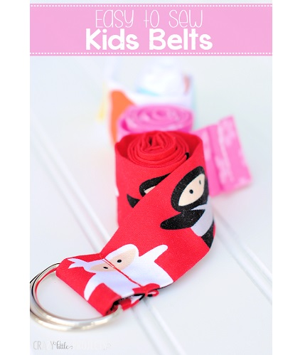 Tutorial: 10-minute kid's ribbon belt