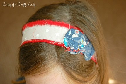 Tutorial: Scrappy fabric headband