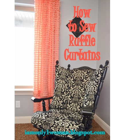 Tutorial: Super simple ruffle curtains