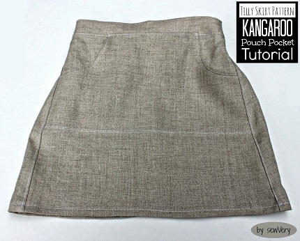 Tutorial: Skirt with a hidden kangaroo pouch pocket