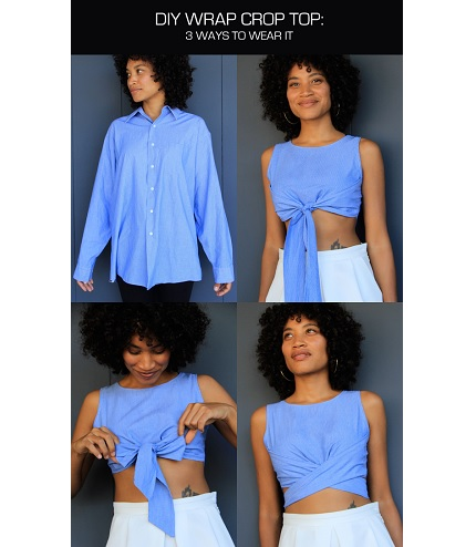 Free pattern: Wrapped crop top you can wear three ways