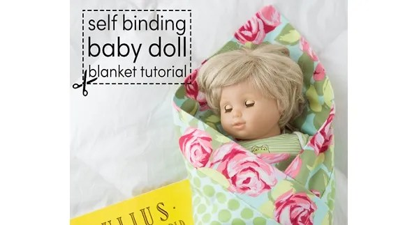 Tutorial: Baby doll receiving blanket