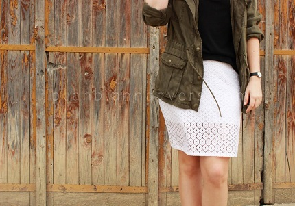 Tutorial: Eyelet knit skirt