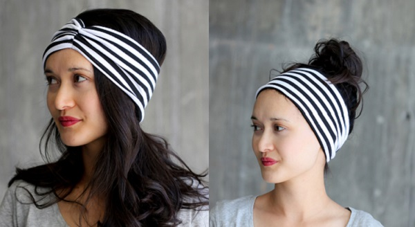 Tutorial: DIY knit fabric headwrap