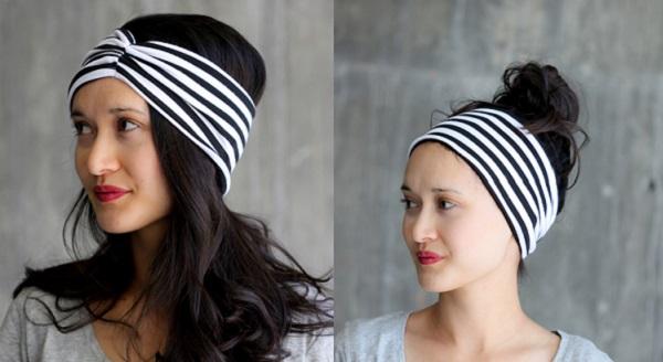 Tutorial: DIY knit fabric headwrap
