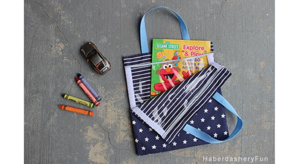 Tutorial: Kids activity bag with Velcro sides