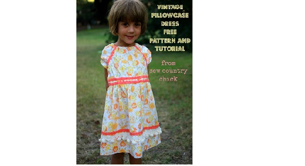 Free pattern: Vintage pillowcase peasant dress