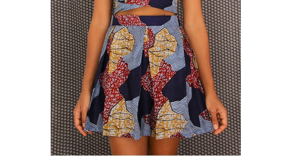 Tutorial African print pleated skirt