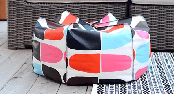 Tutorial: DIY bean bag pouf cushion
