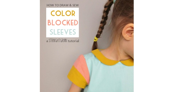 Tutorial: Color blocked cap sleeves