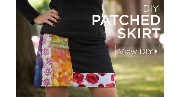 Tutorial: DIY patched skirt
