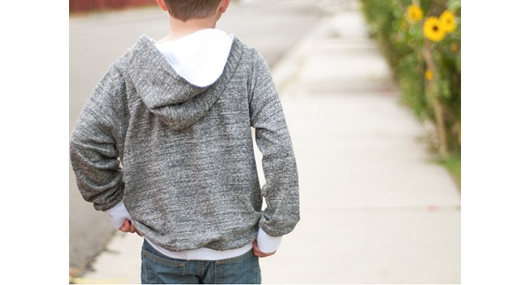 Free pattern: Boys hooded sweatshirt
