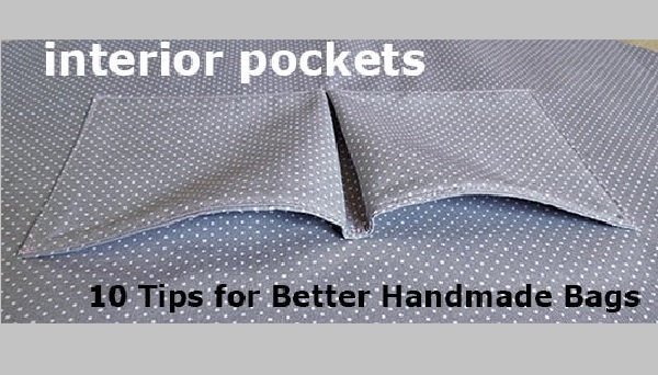 Tutorial: How to sew better interior bag pockets