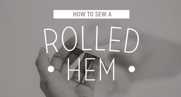 Tutorial: Machine sewn rolled hem