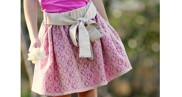 Tutorial: Gathered skirt tied with a pretty sash