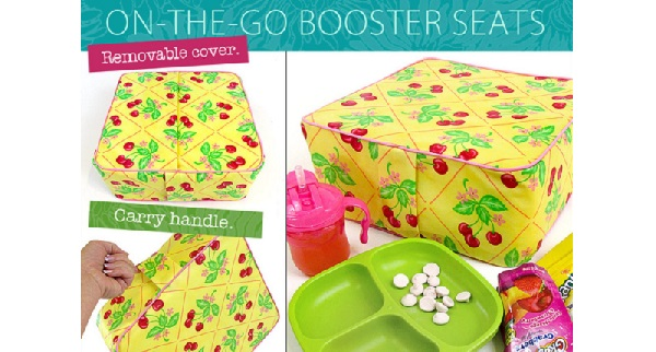 Tutorial: Travel booster seat with carrying handle