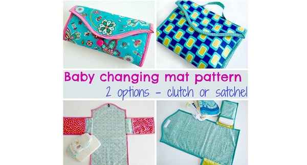 Free pattern: Baby changing mat that folds to a clutch or satchel