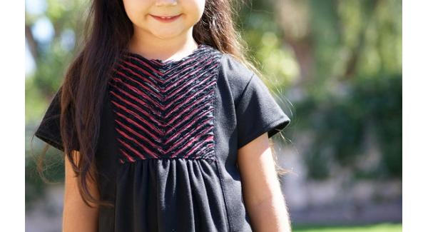 Tutorial: Faux chenille dress yoke
