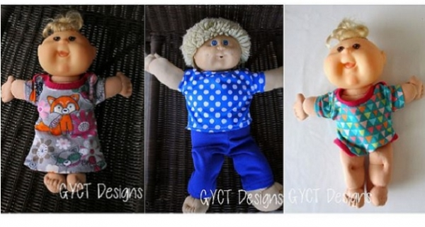 Free pattern: Clothes for a Cabbage Patch doll   Sewing