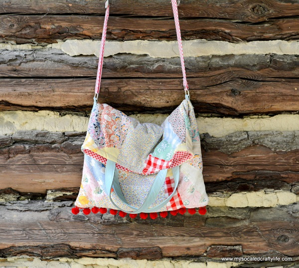 Tutorial: Make a crossbody tote from vintage quilt squares