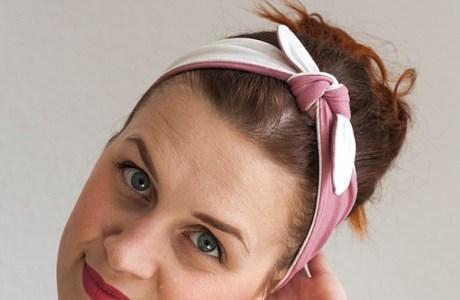 two-colored sewn headband