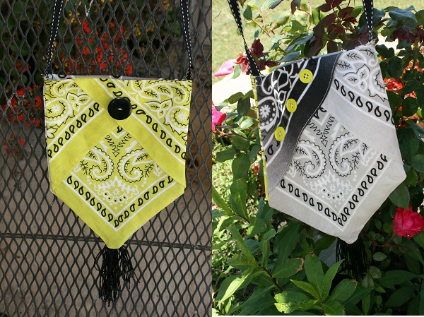 Tutorial: Bandana pinch or snap bag