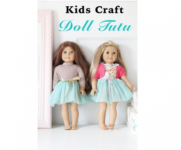 Tutorial: Doll tutu that kids can make