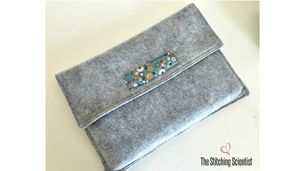 Tutorial: Easy felt and fabric laptop sleeve
