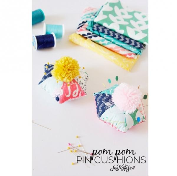 pom-pom-pincushions