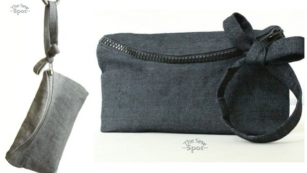Tutorial: Curved zipper wristlet clutch