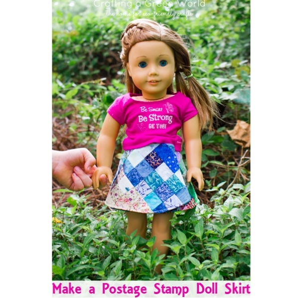 "Tutorial: Patchwork wrap skirt for an 18"" doll"