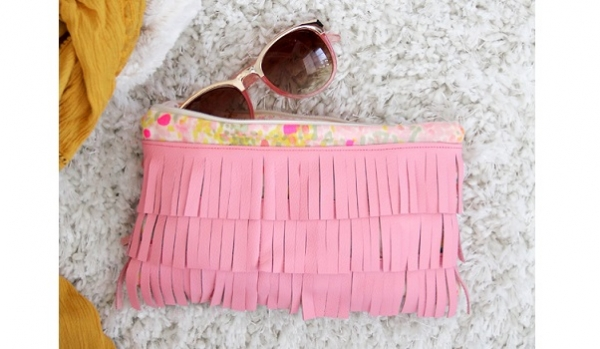 Tutorial: Fringed leather clutch