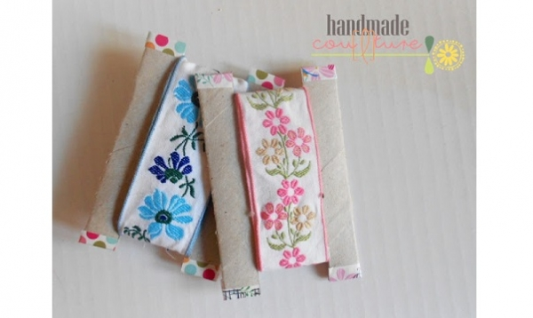 Tutorial: Paper tube ribbon storage cards
