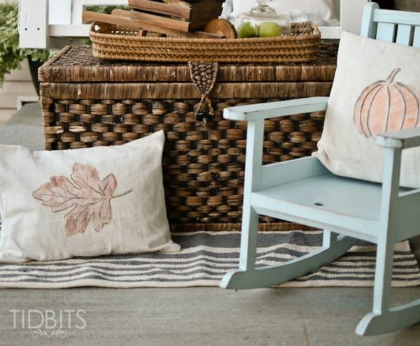 Tutorial: Watercolor fall pillows