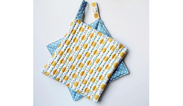 Tutorial: Pot holder from a fat quarter
