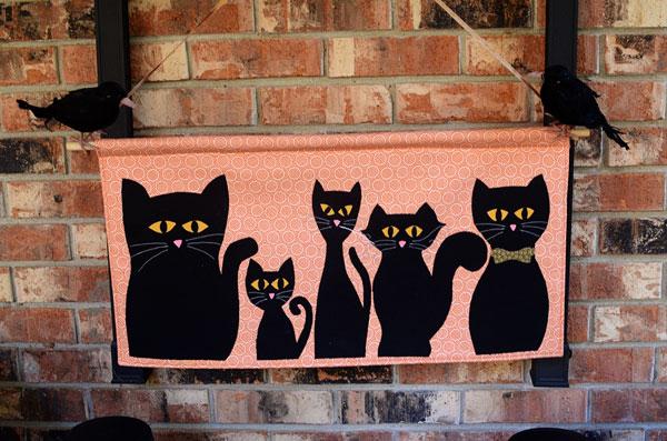 Tutorial: Black cat Halloween banner