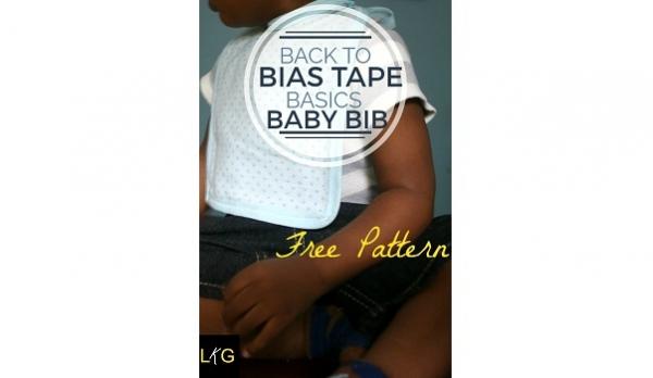 Free pattern: Repurposed baby blanket drool bib