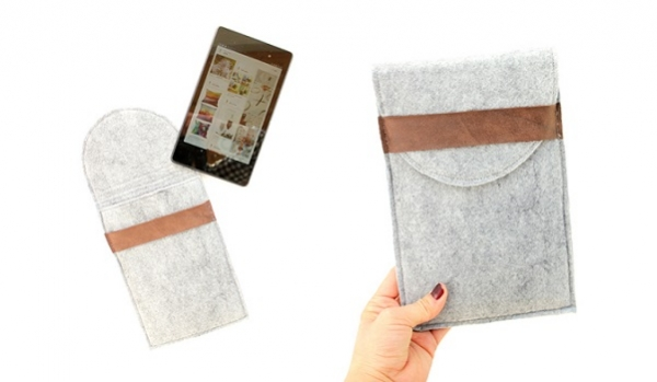 Tutorial: Felt and leather tablet case
