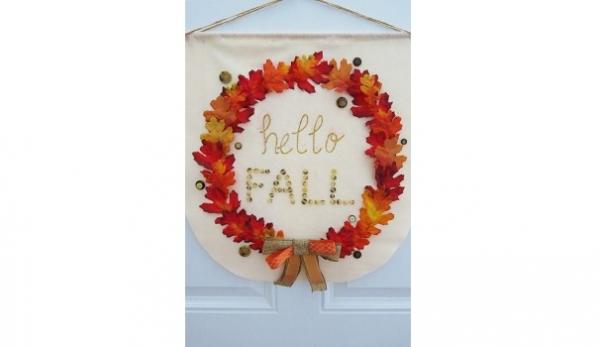Tutorial: No-sew fall wreath banner