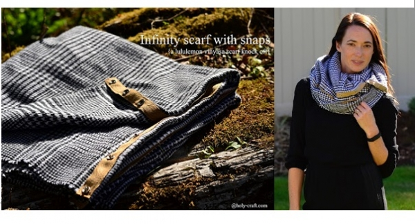 Tutorial: Infinity scarf with snaps